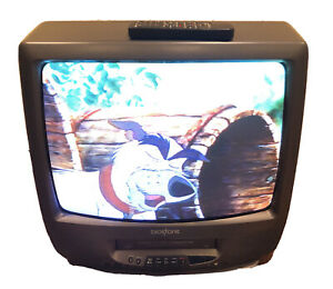 """Broksonic CTSGT9369CTTC 19"""" CRT TV Gaming Tube TV VCR Combo With Remote"""
