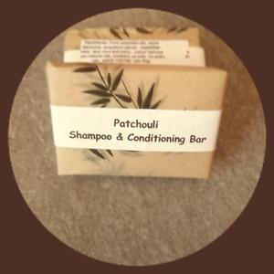 handmade all natural shampoo & conditioning bar  Patchouli