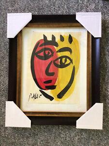Peter Keil - Signed & Framed Original Painting - Face 37e - Listed Artist