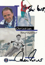 Christian Neureuther (DEU) 1.Kitzbühel 1979 Ski Alpin original signiert/signed !