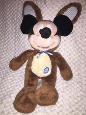 Disney Store Mickey Mouse Easter Bunny Brown Stuffed Plush*