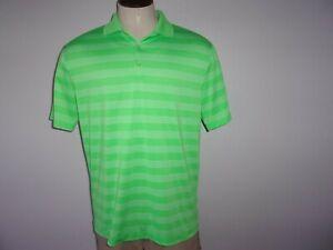 Men's NIKE GOLF TOUR PERFORMANCE DRI-FIT Sz L Green Short Sleeved Polo Shirt