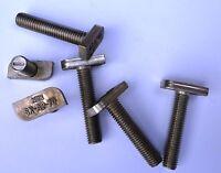 M8x30 Hammerkopfschrauben 28/15 A2-70   Kopf 10,1  x 22,8 x 4mm 100 Stück