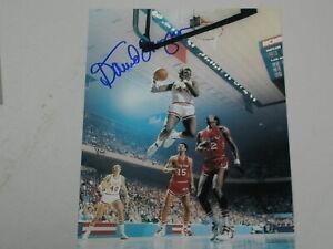DAVID THOMPSON Signed 8x10 Photo Autograph NC State Basketball 1974 Champs C