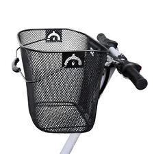 Cestini neri in metallo per biciclette