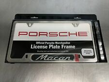 Porsche Macan Brushed Silver Stainless Steel License Plate PNA70400600