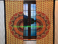 Mandala Indian Curtain Cotton Tapestry Decor Window Curtains Hippie Wall Hanging