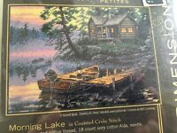 Dimensions Gold Collection Morning Lake Counted Cross Stitch Petite 65091 New