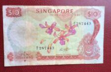 Singapore - Joli et Rare billet de 10 $ 1972  - Pick # 3/c - vf=45  $