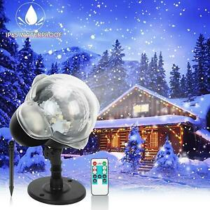 Christmas LED Moving Laser Projector Snowflake Fairy Light Xmas Party Garden UK