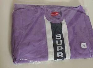 SS17 Supreme Vertical Logo Panel crewneck lavender size XL sweatshirt