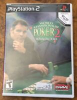 WORLD CHAMPIONSHIP POKER 2 PLAYSTATION 2 PS2 COMPLETE CIB ACCEPTABLE