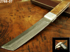 "9"" HANDMADE DAMASCUS STEEL TACTICAL FIXED BLADE TANTO KNIFE TOP! (2788-7"