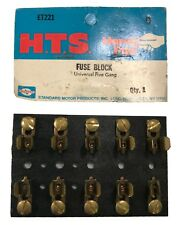 Standard ET221 Glass Type Fuse Block Fuse Holder Universal 5 Gang Brass USA