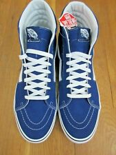 94f2298034 Vans Mens Sk8-Hi Estate Blue True White Canvas Suede Skate Shoes Size 10 NWT