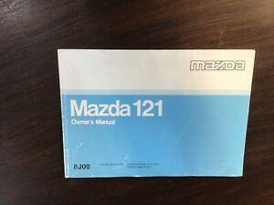 Mazda 121 8J09 Owners Manual