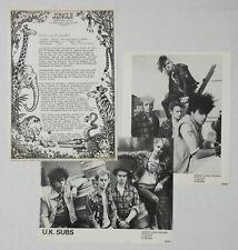 Uk Subs Flood Of Lies 1982 Uk Promo Press Kit Charlie Harper Punk Minty!