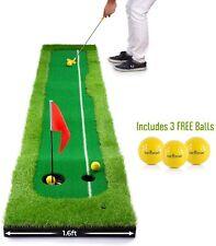 Abco Tech Golf Putting Green Mat Portátil Estera para la práctica de césped sintético
