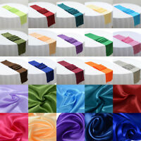 "5 or 10 Pcs Satin Table Runners Wedding Decoration - 12"" x 108"" - 21 Colors"