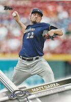 """*Milwaukee Brewers-""""Matt Garza"""" /2017 Topps #507/ *Mint BaseBall Card {104}"""