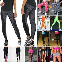 Donna Pantaloni da yoga Fitness Leggings corsa palestra eserczio sport