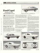 WIKING CHRONIK  FORD CAPRI und FORD TAUNUS M, von 1988