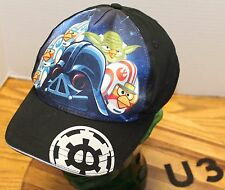 ANGRY BIRDS STAR WARS YOUTH HAT BLACK SNAPBACK IN VERY GOOD CONDITION   U3