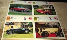 MG Cars  Colour Collector Cards x 4