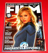 JESSICA ALBA FANTASTIC FOUR 2005 ROURKE HITCHCOCK BATMAN DEPP MOVIE MAGAZINE