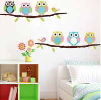 Owls On Tree Wall Sticker For Kids Room Wall Decal Wall Decoration Girls Bedroom
