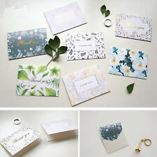 X6 Thank You Cards with Matching Envelopes Romantic Floral & Leaf 9 Styles