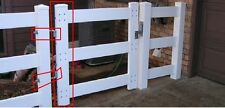 NEW! 4' single 3 rail white vinyl fence gate