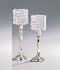 Crystal Votive Candle Holders Wedding Table Centrepieces Candelabras Set of 2