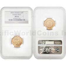 France 1896A Fasces Privy 20 Francs Gold NGC MS62