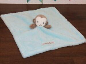 Blankets & Beyond Monkey Blue Gray Plush Baby Lovey Security Blanket Fluffy Toy