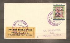 LETTER COVER POLAND POLISH FORCES IN GREAT BRITAIN 22/03/1943 WW2