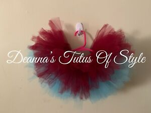 Burgundy And Turquoise Tutu Size 3-6 Months