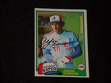 HOF ANDRE DAWSON 1981 TOPPS SIGNED AUTOGRAPHED CARD #125 MONTREAL EXPOS