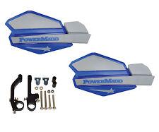 Powermadd Star Series Handguards Guards Blue / Silver Snowmobile Ski Doo Summit
