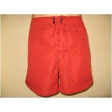 Una vez usado Calvin Klein Largo Rojo Swim Beach Surf Board Shorts Cintura Medio 32/34