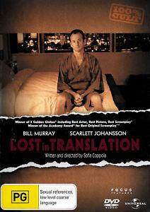 Lost In Translation - Rare DVD Aus Stock New Region 2,4