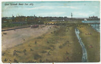 Great Yarmouth Beach from Jetty, 1907 postcard