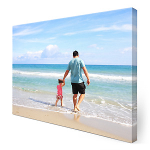 Personalised Photo Canvas Print Your Picture Framed Wall Hanging A3 Canvas Art