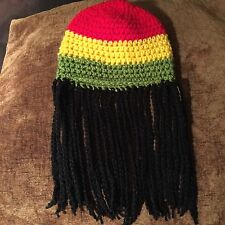 Baby Crochet Rasta Jamaican Hat With Dreadlocks Newborn