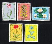 Netherlands 1960 MNH Mi 746-750 Sc B343-347 set Flowers CV 18€ **