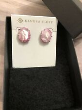 Kendra Scott Matte Lilac Morgan Mother of Pearl Large Stud Earrings NWOUT.