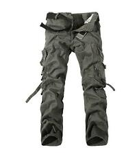 Men Multi Pocket Overall Casual Military Army Cargo Camo Combat Work Trousers