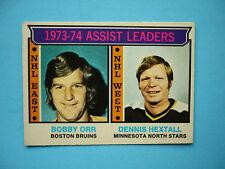 1974/75 O-PEE-CHEE NHL HOCKEY CARD #2 BOBBY ORR ASSIST LEADERS EXEX- SHARP!! OPC