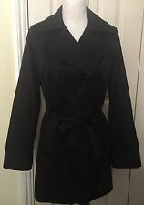 Zara Women Black Trench Long Coat Size L
