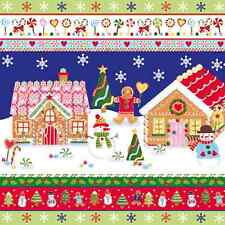Christmas 20 Paper Lunch Napkins MR. GINGER'S HOME Winter Colourful Snowman / D